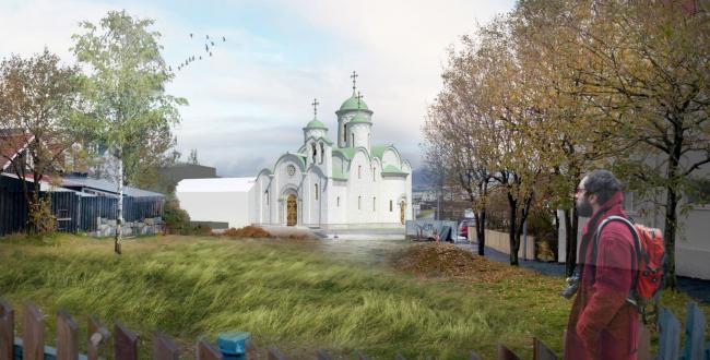 Проект русского культурного центра в Рейкьявике. Вариант 2 © Александр Солдатов. ЦХИАР