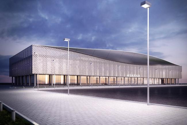 Проект реконструкции фасадов аэропорта города Абакан © Arch group