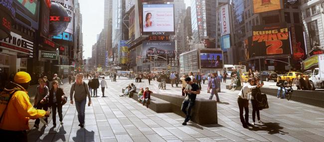 Таймс-сквер – реконструкция © Snøhetta and MIR