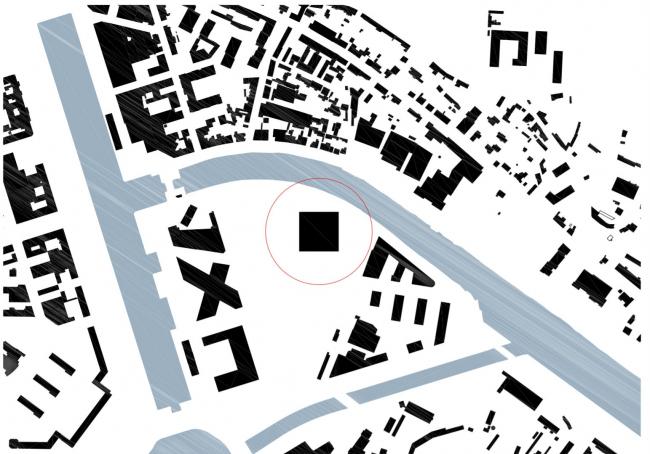 Здание суда в Кане. Ситуационный план © be baumschlager eberle