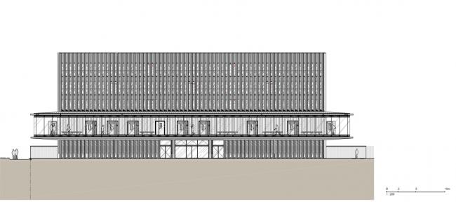 Здание суда в Кане. Фасад © be baumschlager eberle