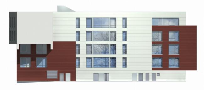 Жилой комплекс и офис на Пречистенской набережной. Офисная часть (корпус 2). Фасад. Проект, 2005 © Остоженка