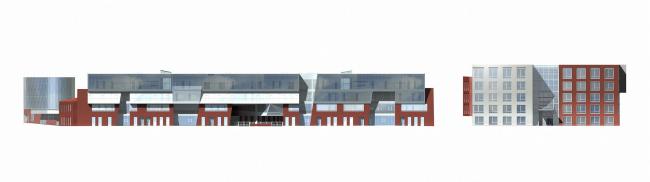 Жилой комплекс и офис на Пречистенской набережной. Общий вид. Фасады. Проект, 2005 © Остоженка