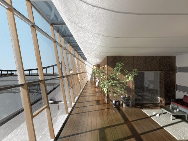 Жилой комплекс и офис на Пречистенской набережной. Офисная часть (корпус 2). Проект, 2005 © Остоженка