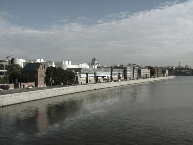 Жилой комплекс и офис на Пречистенской набережной. Фасады (вариант 1). Проект, 2005 © АБ Остоженка