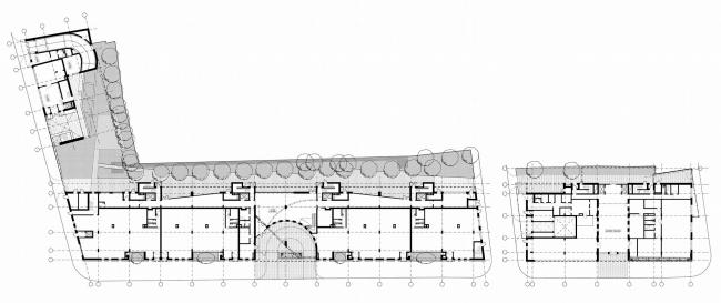 Жилой комплекс и офис на Пречистенской набережной. Общие планы. Проект, 2005 © Остоженка