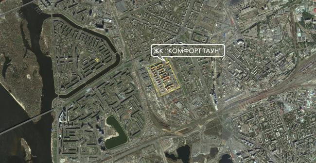 Ситуационный план жилого квартала «Комфорт таун». Постройка, 2014 © Архиматика