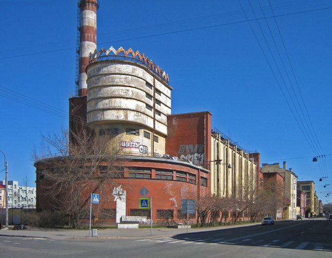 Силовая станция фабрики «Красное Знамя». Фотография: Peterburg23. Лицензия CC BY 3.0