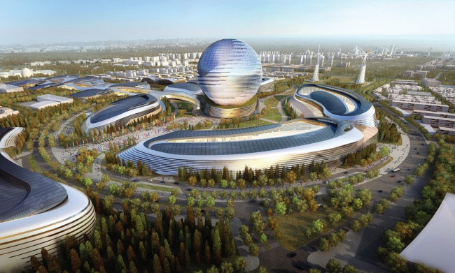 Выставочный комплекс «Астана EXPO-2017». Проект, 2013. Реализация, 2016 ©  Adrian Smith + Gordon Gill Architecture