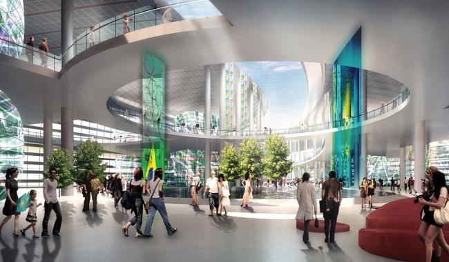 Выставочный комплекс «Астана EXPO-2017». Международный павильон