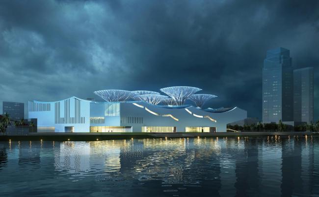 Музей современного искусства Чжухай-Хуафа в Чжухае © Ábalos+Sentkiewicz Arquitectos