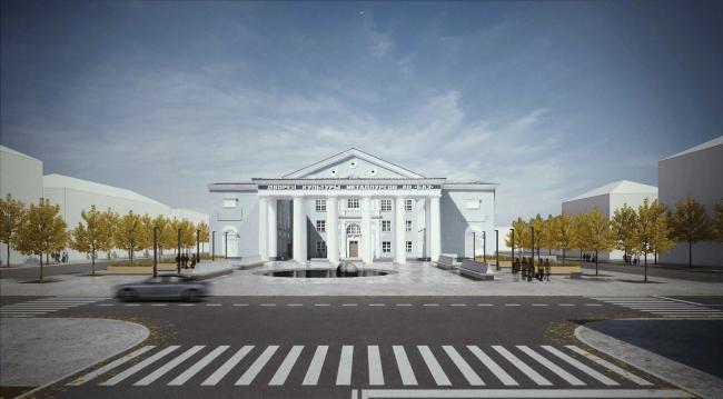 Благоустройство центральных пространств в Краснотурьинске. Проект, 2014 © Kleinewelt Architekten