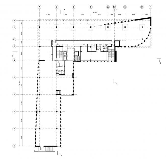 Деловой центр на улице Красина. План 2 этажа © ТПО «Резерв»