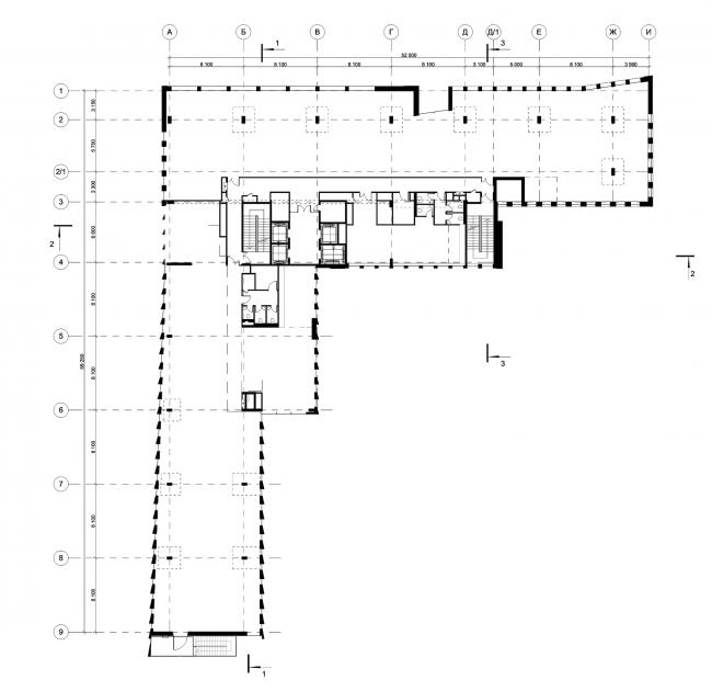Деловой центр на улице Красина. План 3 этажа © ТПО «Резерв»