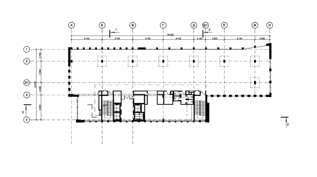 Деловой центр на улице Красина. План 8 этажа © ТПО «Резерв»
