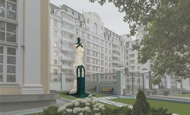 Проект памятника Галине Вишневской, автор Александр Рукавишников. Изображение предоставлено Организационным комитетом конкурса