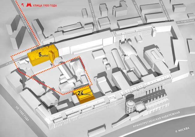 Карта Трехгорной мануфактуры