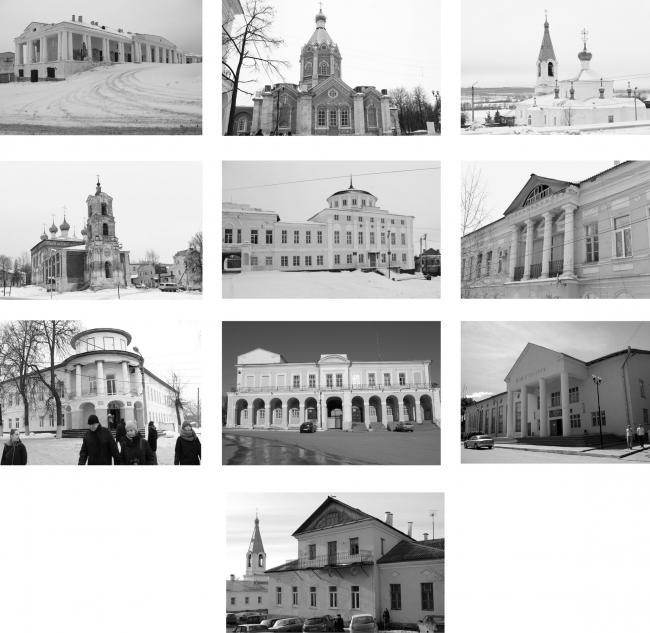 Фотографии существующих объектов города Касимов. Дипломный проект 10 группы МАРХИ, 2016. Руководитель: Алексей Бавыкин