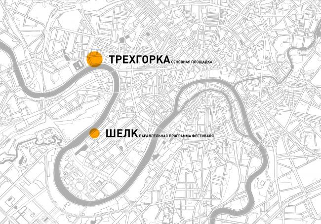 Схема расположения площадок в Москве