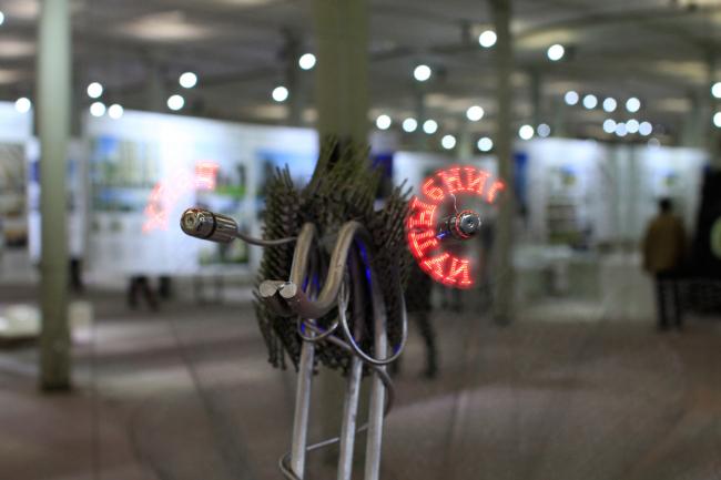 Работы студентов Института бизнеса и дизайна. 5 корпус. Фотография © Юлия Тарабарина