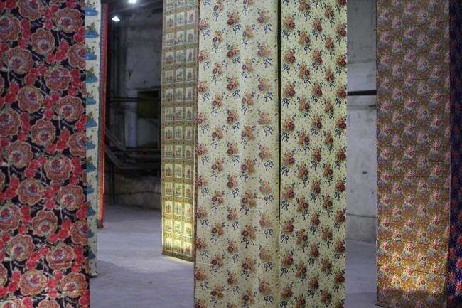 История ситца. Экспозиция Наринэ Тютчевой. Фотография © Юлия Тарабарина