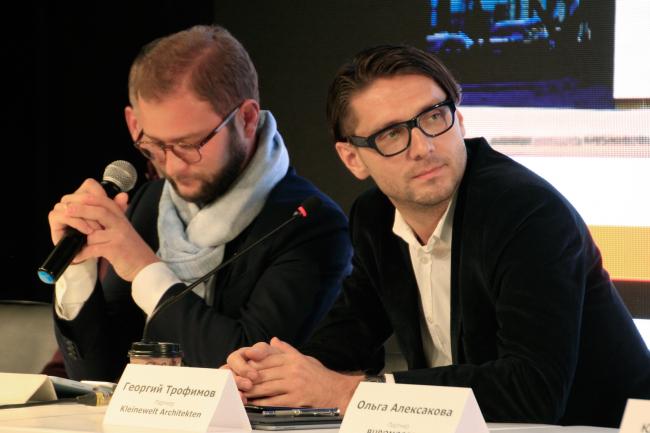 Николай Переслегин и Георгий Трофимов, партнеры бюро Kleinewelt Architekten. Фотография © Юлия Тарабарина, Архи.ру