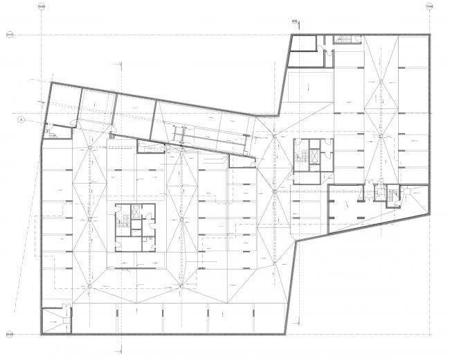 Жилой дом на Борисовской улице. План -1 этажа © Архитектурное бюро Асадова