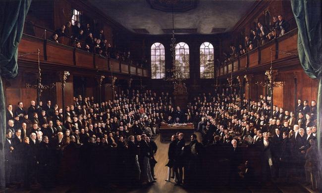Палата общин британского Парламента. 1833. Художник Джордж Хэйтер. Национальная потретная галерея