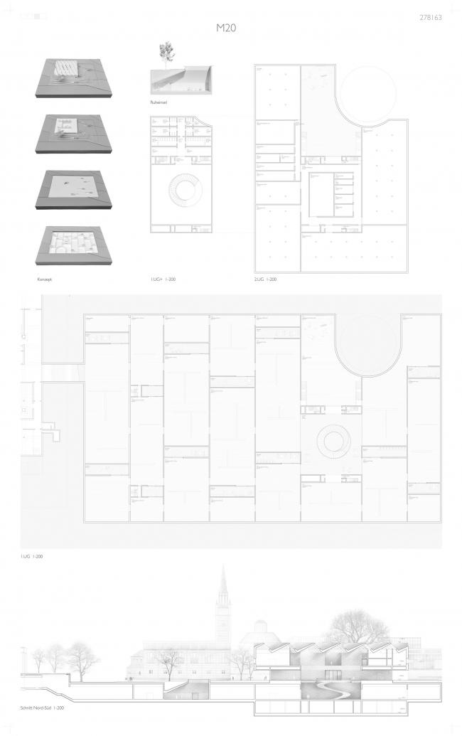 Музей XX века © Bruno Fioretti Marquez Architekten, capatti staubach Landschaftsarchitekten