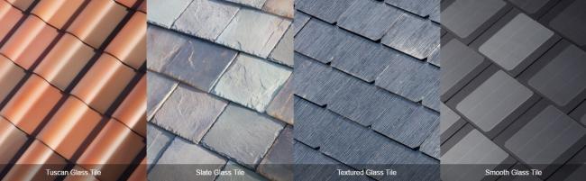 Четыре варианта дизайна крыши от Tesla Motors. Изображение с сайта tesla.com