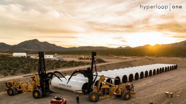Проект поезда Hyperloop One. Изображение с сайта hyperloop-one.com