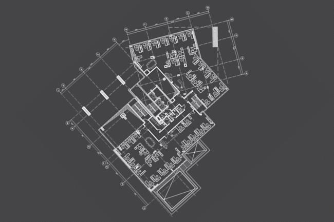Многоквартирный жилой дом на ул. Орджоникидзе. План 2 этажа. Проект, 2016 © Сити-Арх