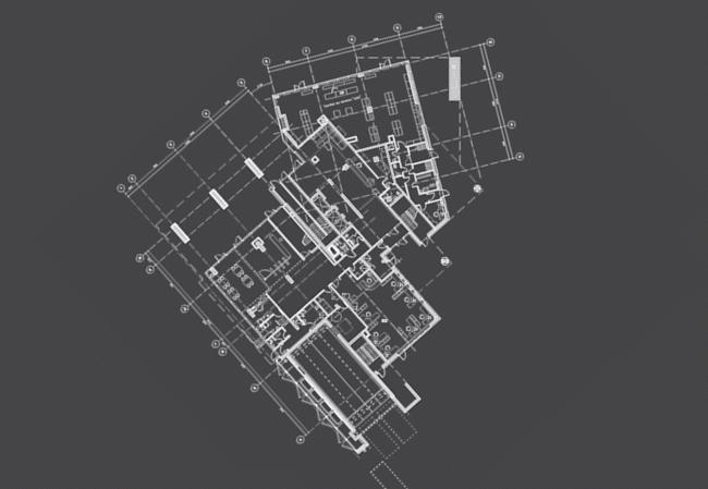 Многоквартирный жилой дом на ул. Орджоникидзе. План 1 этажа. Проект, 2016 © Сити-Арх