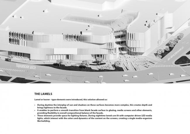 Торговый центр «Хорошо». Аксонометрия © IQ Studio