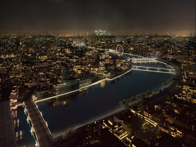 Концепция освещения Темзы © MRC, AL_A