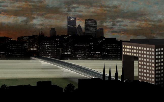 Концепция освещения Темзы © MRC, Sam Jacob Studio, Simon Heijdens