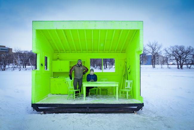 Категория «Чувство места». Автор: Paul Turang. Уютный дом, согревающая хижина (Виннипег, Канада). Архитектурное бюро: Plain Projects, Pike Projects, Urbanink