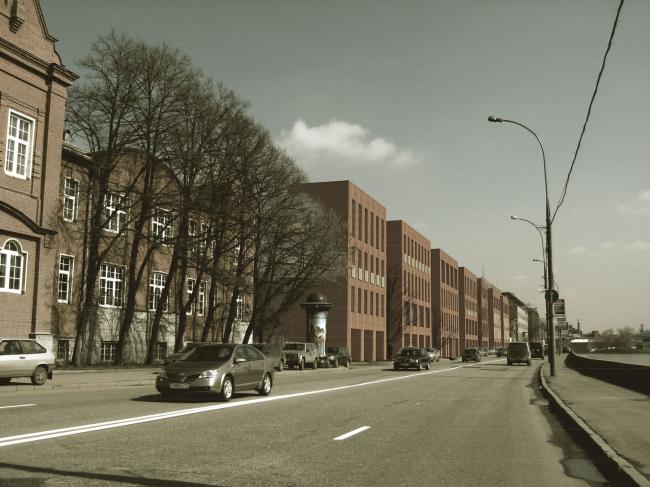 Жилой комплекс и офис на Пречистенской набережной. Фасады (вариант 2). Проект, 2009 © АБ Остоженка