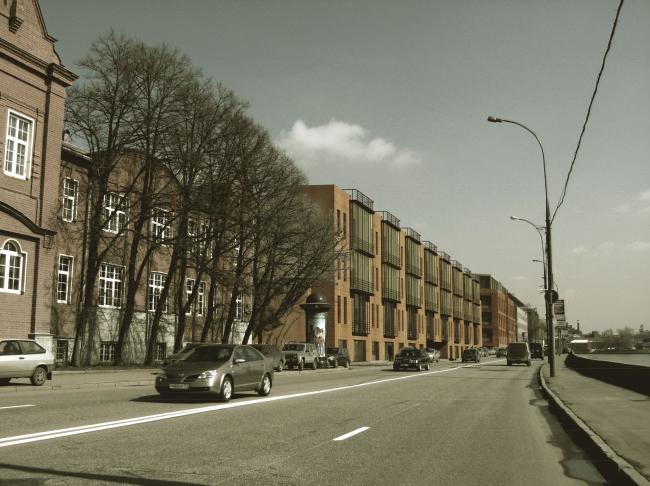 Жилой комплекс и офис на Пречистенской набережной. Фасады (вариант 3). Проект, 2009 © АБ Остоженка