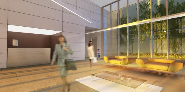 Жилой комплекс и офис на Пречистенской набережной. Интерьеры общественных зон корпуса 1. Проект, 2009 © АБ Остоженка