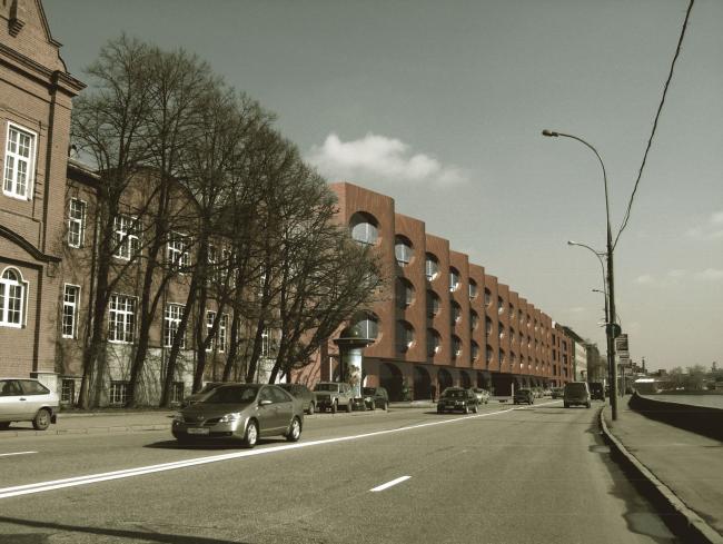Жилой комплекс и офис на Пречистенской набережной. Фасады (вариант 5). Проект, 2009 © АБ Остоженка