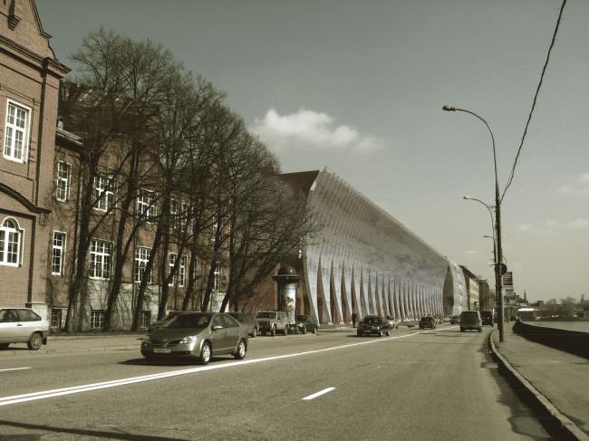 Жилой комплекс и офис на Пречистенской набережной. Фасады (вариант 6). Проект, 2009 © АБ Остоженка
