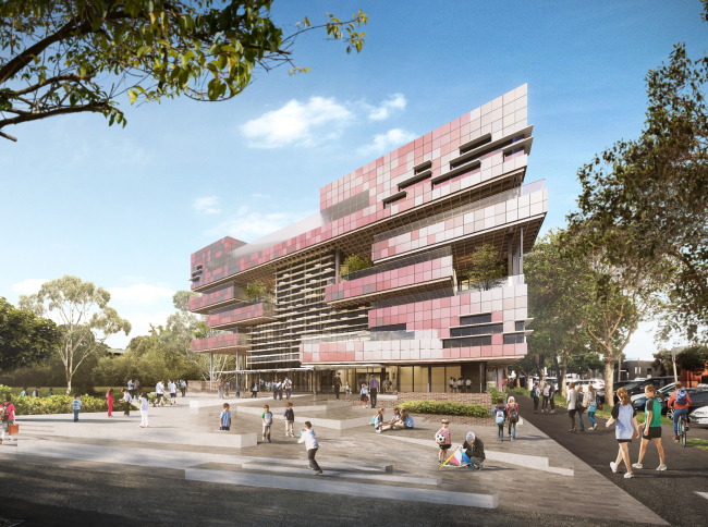 Начальная школа South Melbourne  (Мельбурн, Австралия).  Hayball. Изображение предоставлено WAF