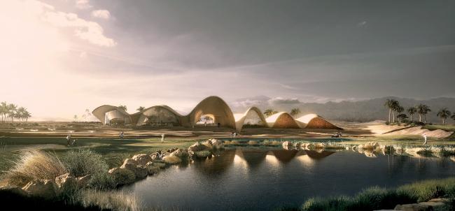 Клубный дом и гольф-академия Ayla (Акаба, Иордания).  Oppenheim Architecture. Изображение предоставлено WAF