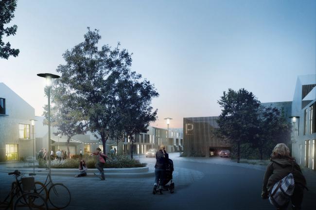 Naerheden – пригород будущего (Копенгаген, Дания).  Arkitema Architects. Изображение предоставлено WAF