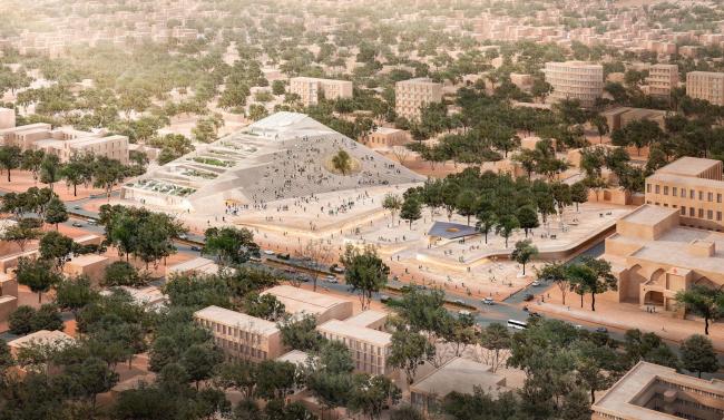 Здание Парламента Буркина-Фасо и мемориальный парк © Kéré Architecture