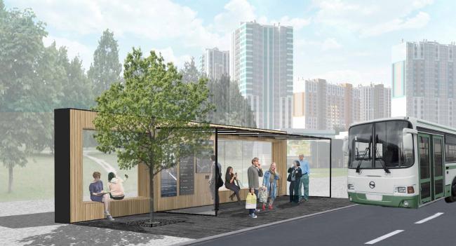 Проект остановочного комплекса Passepartout. Изображение предоставлено журналом «Проект Балтия»