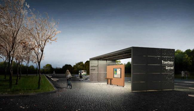Проект остановочного комплекса Urban Living Room. Изображение предоставлено журналом «Проект Балтия»