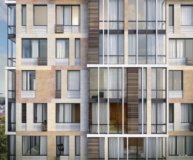 Жилой комплекс «Карамель». Проект,2016. В процессе строительства © ADM