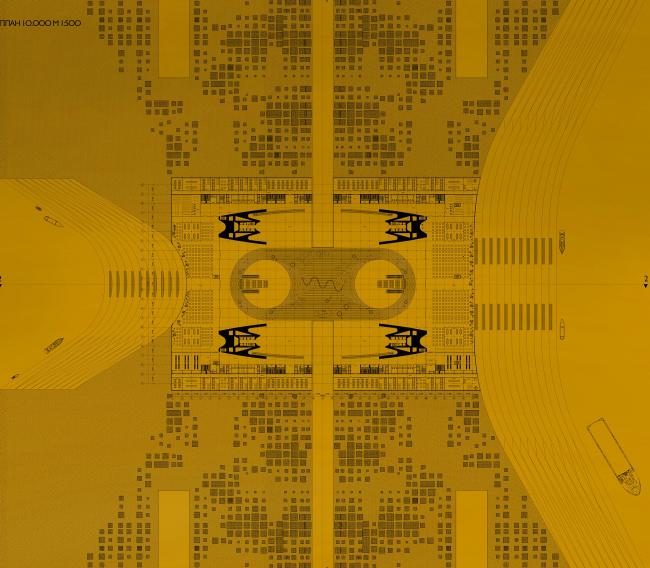 Парламент. План. Дипломный проект Александра Плоткина. Руководители: Александр Цимайло и Николай Ляшенко. 15 группа. МАРХИ, 2016